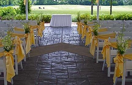 wedding ceremony yellow decorations
