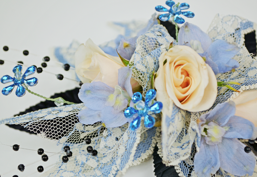 Dreaming Blue Prom corsage