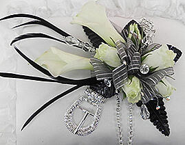 Couture prom corsage