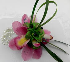 Pink Orchid Prom Corsage