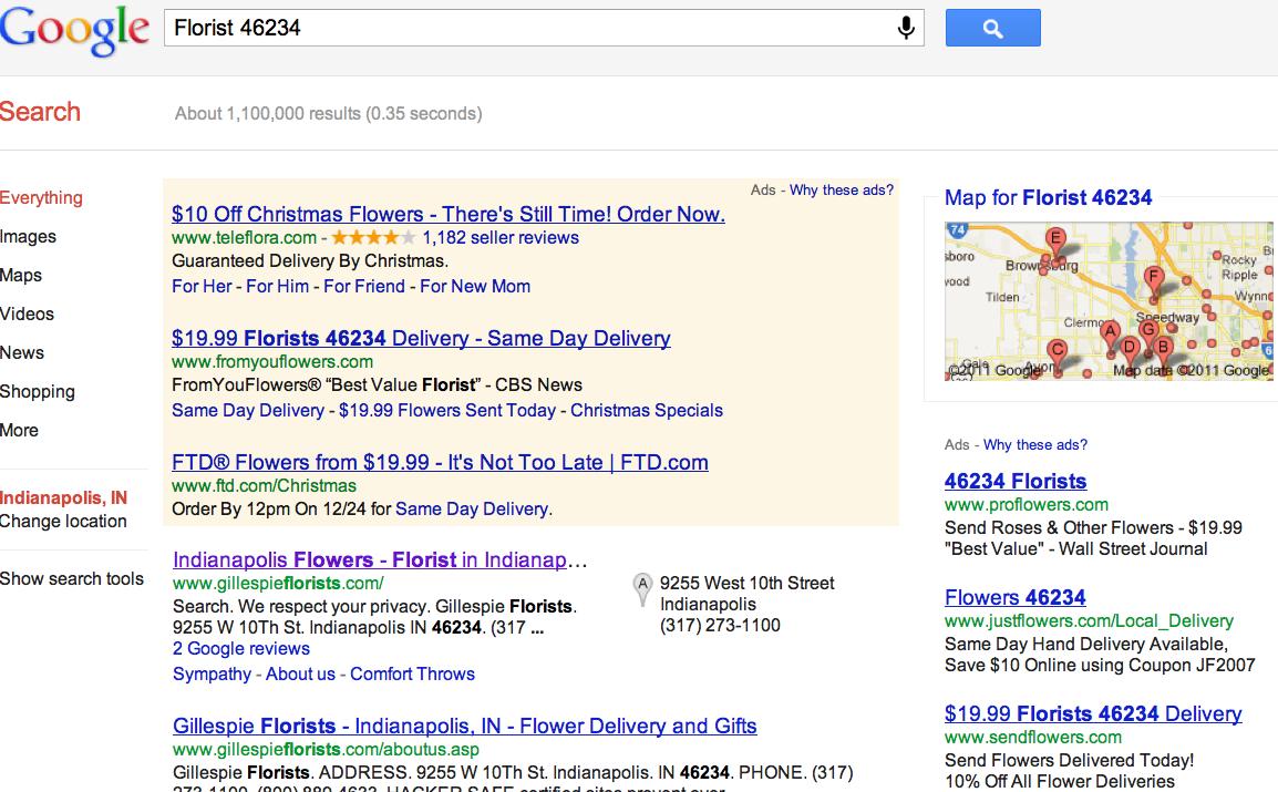 Local florist 46234