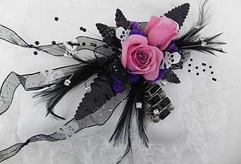 Sugars Skulls Goth Prom flowers