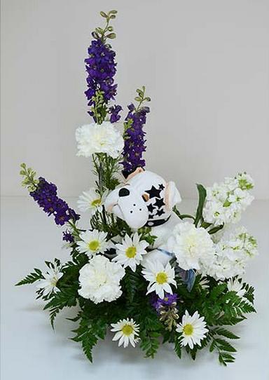 Rockerz Bulldog Bouquet flowers