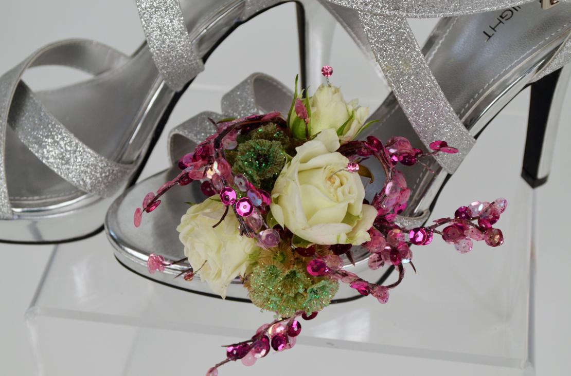 Flowers prom heels
