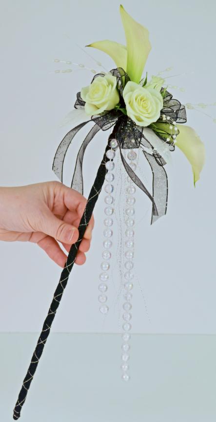 White Calla Prom scepter