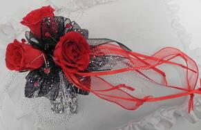 Vampire corsage flowers
