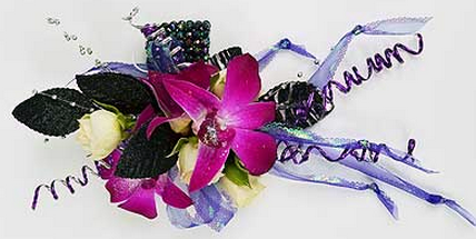 rose and orchid corsage