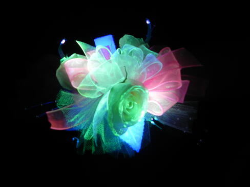Light up prom flowers