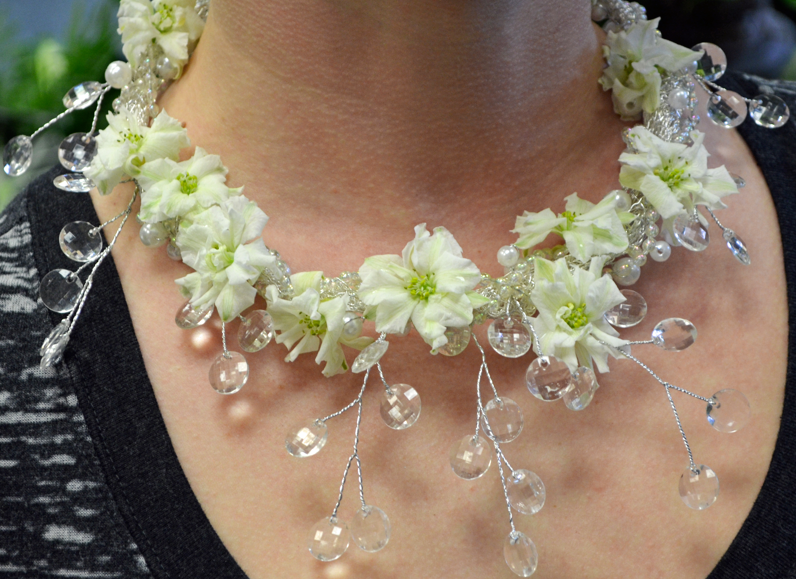 Frozen Prom Flower Necklace
