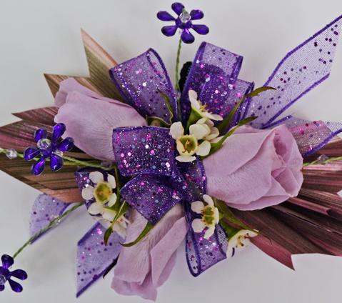 Purple Pixie Prom Corsage