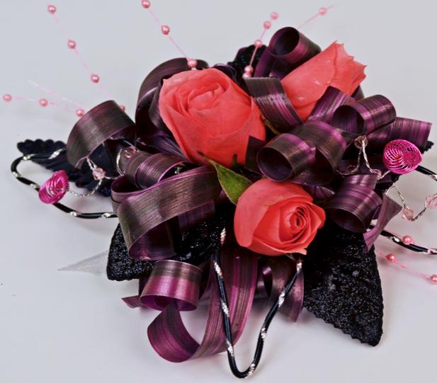 Pink Curls Prom flowers