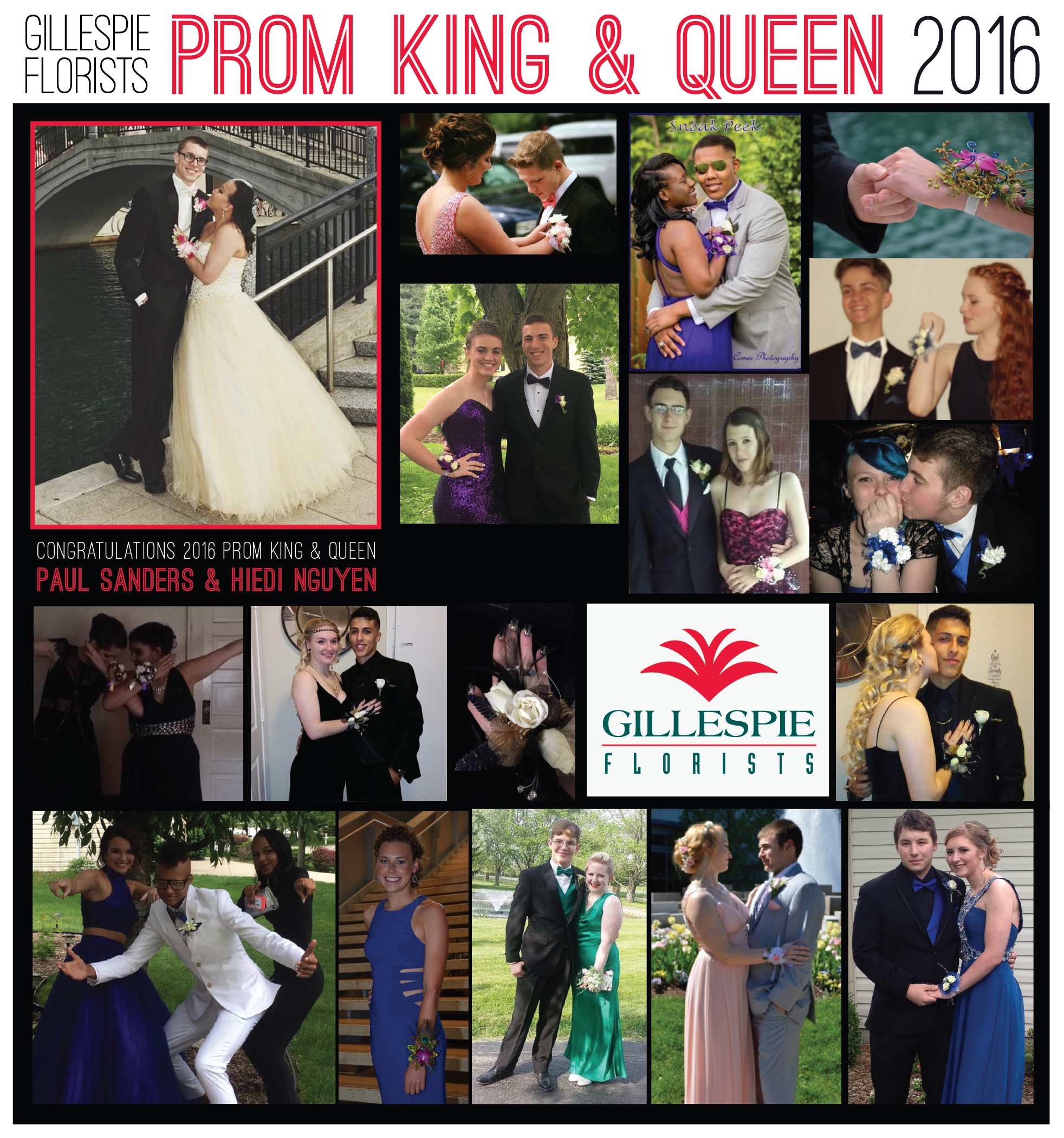 Prom contest winners 2016 gillespie florists #gfprom2016