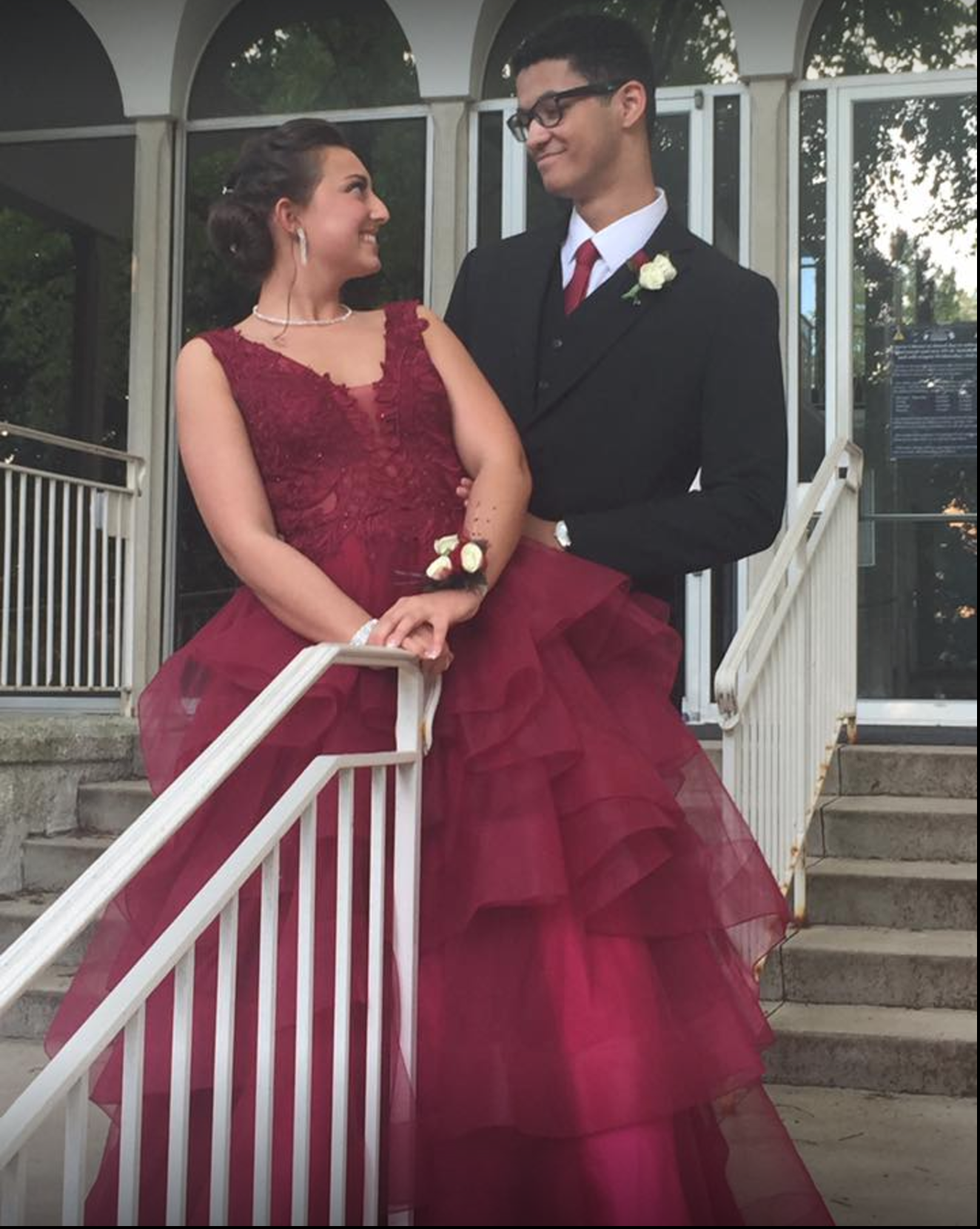 Prom King and Queen 2017 Gillespie Florists Olivia Aaron