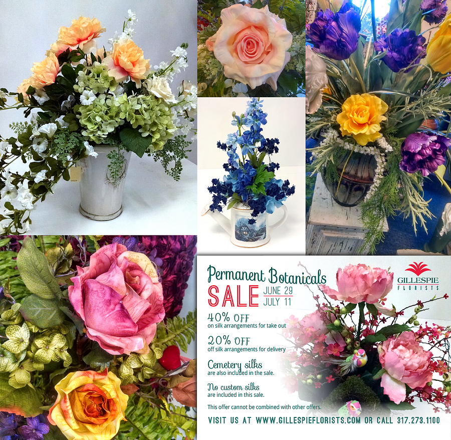 Why Buy Permanent Botanicals Silk Flowers On Sale At Gillespie Florists